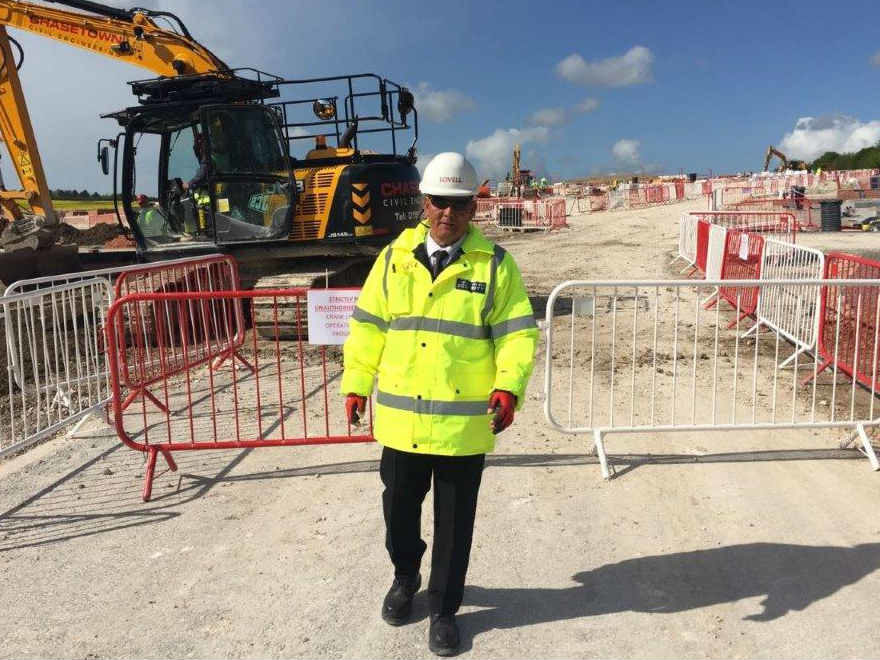 Manned Security Guard on Southampton Construction Site