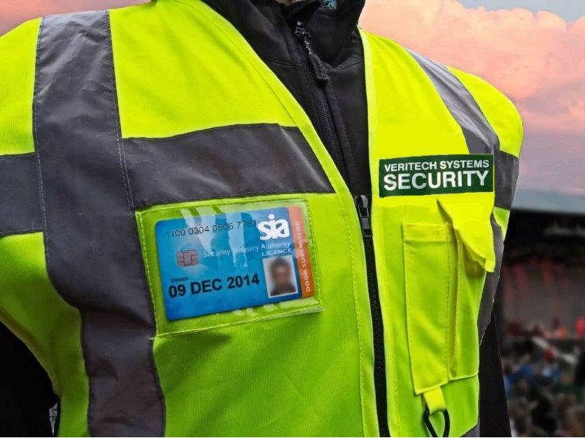 Veritech Manned Security Guard Vest Southampton